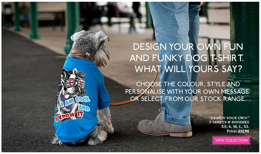 View Urban Pup Personalized Custom Dog T-Shirts, Dog Hoodies & Dog Harnesses