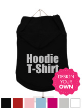 """Design Your Own"" Dog Hoodie / T-Shirt - A fun, funky and distinct dog tank t-shirt with hood. Made from high quality, fine knit gauge, 100% cotton and features a cotton-flex ''xxxDesignxxx'' design."