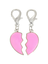 Friend's Forever Dog Collar Charm - Never be apart with our friendship charm, wear one on your key ring and one on your pup. The two charms when put together make one heart which can be reunited at the end of a long day, or anytime you feel like. The two hearts are finished in pink enamel with a silver plated backing. Attaches to any...