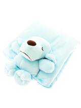 Snuggle Puppy Baby Blue Blanket (Small) - Every pup loves to cuddle on a cozy Snuggle Puppy Blanket. They help ease separation anxiety in newly-weaned pups and give older dogs comfort and security. Each blanket is made of soft fleece and features a friendly face and arms to nuzzle.