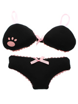 Black Lingerie Soft & Squeaky Dog Toy - Cuddly and colourful textures, with an added squeak to entertain your pet! These soft, cute and cuddly toys are designed for your dog to both snuggle with and play with.