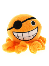Orange Octopus Plush & Squeaky Dog Toy - Cuddly and colourful textures, with an added squeak to entertain your pet! These soft, cute and cuddly toys are designed for your dog to both snuggle with and play with.