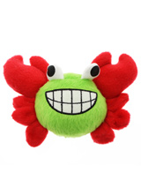 Friendly Crab Plush & Squeaky Dog Toy - Cuddly and colourful textures, with an added squeak to entertain your pet! These soft, cute and cuddly toys are designed for your dog to both snuggle with and play with.