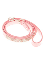Diva Pink Diamante Dog Lead - This pink diamante lead has silver clip finished with a strip of sparkling diamantes.