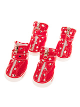 Red Star Trainers - These are not just a great style item to match your own trainers but you can protect your dog's paws or cover them when they are injured. These dog boots can also protect boat decks / wooden floor from claws & help elderly dogs stop sliding on tiles or floors.