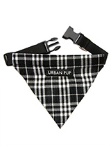 Black & White Tartan Bandana - Our Black & White Tartan Bandana is a traditional design which is stylish, classy and never goes out of fashion. Just attach your lead to the D-ring and this stylish Bandana can also be used as a collar. It is lightweight, incredibly strong, stylish and practical.