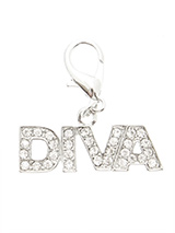 Swarovski ''Diva'' Dog Collar Charm (Clear Crystals) - Is your girl a Diva, then let everyone know so that she can get the respect she deserves. Our Swarovski ''Diva'' Dog Collar Charm will tell the whole world to move out of the way and let her pass. She is a Diva after all!