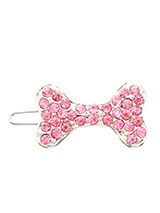 Swarovski Bone Hair Clip / Dog Barrette (Pink Crystals) - Dogs and bones go together so why not treat them to this beautiful bling hair clip. With their hair pinned back they can see where they are going and look beautiful at the same time.