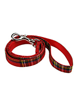 Red Tartan Fabric Lead - Here at Urban Pup our design team understands that everyone likes a coordinated look. So we came up with a strong Red Tartan Fabric Lead that will match up with our Luxury Fur Lined Red Tartan Harness.Here at Urban Pup our design team understands that everyone likes a coordinated look. So we added a...