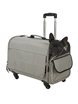 Large Taupe Travel Carrier - This large Taupe Trolley carrier is an amazing fantastic versatile item. You will wonder how you managed without it. When you extend the telescopic handle it can be used as a wheeled carrier and can be pulled along or wheeled by your side on its four wheels, just like a regular suitcase, the only di...