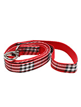 Red Checked Tartan Fabric Lead - Here at Urban Pup our design team understands that everyone likes a coordinated look. So we added a Red Checked Fabric Lead to match our Red Checked Harness, Bandana and collar. This lead is lightweight and incredibly strong.