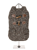 Brown Argyll Tweed Coat - This traditional British fabric has heritage & class and as tweed is never out of style it will stay on trend year in year out. Two faux pockets and a set of faux toggle fastenings complete the look. With its soft funnel neck this stunning coat is elegant and practical and is guaranteed to keep the...