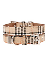Brown Checked Tartan Fabric Collar - Our Brown Checked Tartan collar is a traditional design which is <br />stylish, classy and never goes out of fashion. It is lightweight and <br />incredibly strong. The collar has been finished with chrome detailing <br />including the eyelets and tip of the collar. A matching lead, harness <br />an...