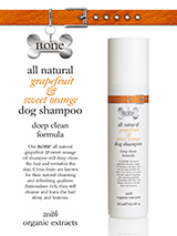All Natural Grapefruit & Sweet Orange Dog Shampoo (300ml) - Our all natural grapefruit & organic sweet orange oil shampoo contains highly biodegradable, vegetable derived cleansers including wheat protein which has conditioning, moisturising and detangling properties to make the hair look shinier and feel softer. Organic sweet orange oil and grapefruit essen...
