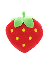 Plump Strawberry Plush & Squeaky Dog Toy - This Plump Strawberry toy will provide hours of fun for your pup as he squeaks with every bite. These soft, cute and cuddly toys are designed for your dog to both snuggle with and play with but are also strong enough to stand up to the strongest of play.