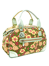 Green Floral Carrier - Our Green Floral Carrier has designer fabrics and trims which combine to create a chic carrier fit to show off your pet while complementing your wardrobe. This carrier is specifically designed to make your pet's journey as comfortable and as safe as possible. There is a mesh windows at one end of th...