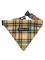 Brown Tartan Bandana - Our Brown Checked Tartan bandana is a traditional Scottish Highland design which is stylish, classy and never goes out of fashion. It is lightweight and incredibly strong. The collar has been finished with chrome detailing including the eyelets and tip of the collar. A matching lead, harness and col...