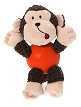 Cheeky Monkey Ball Toy - The body of our Cheeky Monkey Ball Toy is actually a hard rubber ball and is a great interactive toy for playing 'fetch'. He is quite robust and will stand up to a lot of chewing and biting. The rest of him is cuddly and colourful with an added squeak to entertain your pet! This toy will provide hou...
