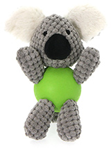 Koala Bear Ball Toy - The body of our Koala Bear Ball Toy is actually a hard rubber ball and is a great interactive toy for playing 'fetch'. He is quite robust and will stand up to a lot of chewing and biting. The rest of him is cuddly and colourful with an added squeak to entertain your pet! This toy will provide hours...