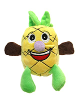 Polly Pineapple Dog Toy - Polly Pineapple Dog Toy Plush and Squeaky Toy has cuddly and colourful textures, with an added squeak to entertain your pet! This toy will provide hours of fun for your pup as he squeaks with every bite. These soft, cute and cuddly toys are designed for your dog to both snuggle with and play with.