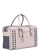 Aimee Pet Carrier - One of our favourite & most elegant of bags! Designer fashion all the way. Our Aimee Pet Carrier is especially designed to help you look fabulous and make your pet's journey as comfortable and as safe as possible. It has a beautiful faux leather outer with a series of ventilation holes which add to...