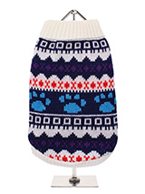 White Fair Isle Vintage Sweater - We're constantly inspired by heritage designs not only from Britain but also from Scandinavia, especially when those designs are in style as they are this season. A high turtle neck and elasticated sleeves make this sweater extra cosy and the vibrant pattern will brighten up even the greyest of days...