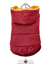 Wine Red Pathfinder Insulated Panel Jacket - Protection and lightweight performance fuse in this Wine Red Pathfinder Insulated Panel Jacket from Urban Pup. Lightweight and incredibly warm to keep the cold out and the heat in. Combine that with a choice of three great colours. The hood is trimmed with Yellow piping to match the lining and draws...