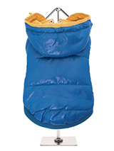 Blue Pathfinder Insulated Panel  Jacket - Protection and lightweight performance fuse in this Blue Pathfinder Insulated Panel Jacket from Urban Pup. Lightweight and incredibly warm to keep the cold out and the heat in. Combine that with a choice of three great colours. The hood is trimmed with yellow piping to match the lining and drawstrin...