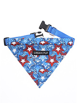 Hero Star Bandana - Our Hero Star Bandana is a tribute to all the Superhero's rolled into one not to mention your own little Superhero! It is a contemporary style and the pattern is right on trend. Just attach your lead to the D ring and this stylish Bandana can also be used as a collar. It is lightweight and incredibl...