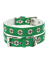 Northern Ireland Football Team Collar - Our Official Northern Ireland Retro Collar is lightweight and incredibly strong. The collar has been finished with chrome detailing including the eyelets and tip of the collar. A matching leash and harness are available to purchase separately. You can be sure that this stylish collar will be admired...