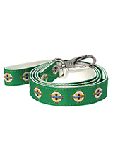 Northern Ireland Football Team Lead - Here at Urban Pup our design team understands that everyone likes a coordinated look. So we added a Retro Northern Ireland Lead to match our Northern Ireland Retro Harness and collar. The team crest runs the length of the lead. This leash is lightweight and incredibly strong and compliments the rest...