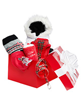 Luxury Christmas Gift Box Hamper - A perfect gift for that spoilt pup, our gift-wrapped luxurious Christmas Hamper features a preferred collection of seasonal clothing in traditional Red and White. Presented in a vibrant Red box with a large flamboyant white ribbon this is the perfect Christmas gift for under the tree. As they say 'C...