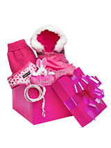 Precious Girl Luxury Gift Box Hamper - A perfectly pink gift for that spoilt little angel, our gift-wrapped luxurious Gift Box Set features a preferred collection of ''Pretty in Pink'' clothing. Presented in a vibrant Fuchsia pink box with a large flamboyant pink ribbon this is the perfect gift for a new pup or a birthday girl, it's sure...