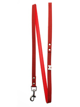 Red Leather Diamante Bone Charm Lead - Sparkling Bling Lead. This textured red leather lead has silver clip finished with a large sparkling diamante bone.S-M Width: 14mmM-L Width: 19mmL-XL Width: 25mmLead Length: 1.08m / 48''