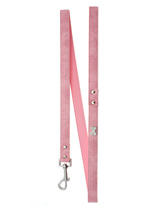 Pink Leather Diamante Lead - Sparkling Bling Lead. This textured pink leather lead has silver clip finished with a large sparkling diamante bone.<ul><li><b>S-M</b> Width: 14mm</li><li><b>M-L</b> Width: 19mm</li><li><b>L-XL</b> Width: 25mm</li><li>Lead Length: 1.08m / 48''</li></ul>
