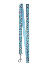 Handcrafted Cool Blue Bling Lead - Bling Bling, this stunning cool blue lead has silver clip with Blue & Pink and Silver pattern.<br /><ul><br /><li><b>S-M</b> Width: 16mm</li><br /><li><b>M-L</b> Width: 19mm</li><br /><li>Lead Length: 1.08m / 48''</li><br /></ul>