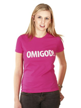 Legally Blonde ''OMIGOD!'' Women's T-Shirt - If you want the authentic Legally Blonde look then this OMIGOD! t-shirt is for you. Slip on this beautiful t-shirt and step right into character to be a part of this all singing, all dancing, feel good musical comedy. Match it up with our OMIGOD! dog t-shirt for maximum impact and maximum fun. As El...