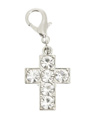 Swarovski Cross Dog Collar Charm