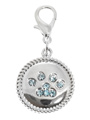 Swarovski Paw Dog Collar Charm (Blue Crystals)