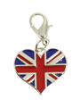 Cool Britannia Heart Dog Collar Charm
