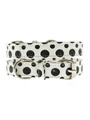 Black / White Polka Dot Glitter Collar