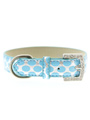 Silver & Blue Polka Dot Collar & Lead Set