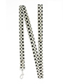 Black / White Polka Dot Glitter Lead