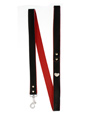 Red / Black Leather Diamante Heart Lead