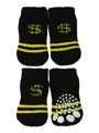 Black / Yellow ''Dollar'' Pet Socks