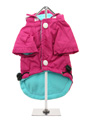 Fuschia Fleece-lined Raincoat