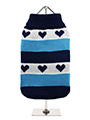 Blue Hearts Striped Sweater