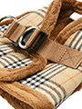 Luxury Fur Lined Brown Checked Tartan Harness