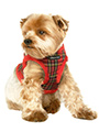 Luxury Fur Lined Red Tartan Harness