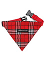Red Checked Tartan Bandana